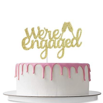 Amazon.com: Decoración para tarta con cristal de champán ...