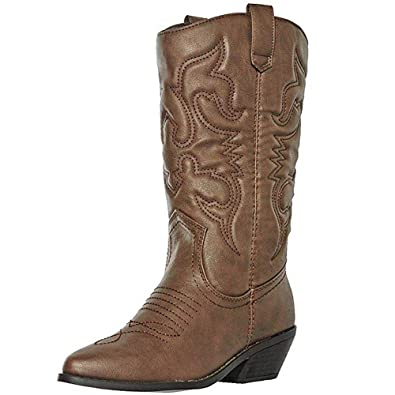 60367862e47 Soda Women's Red Reno Western Cowboy Pointed Toe Knee High Pull On Tabs  Boots