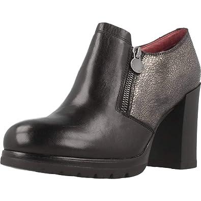 47c46e74ad STONEFLY 109403 black women s shoe zipper heel shoe  Amazon.co.uk ...
