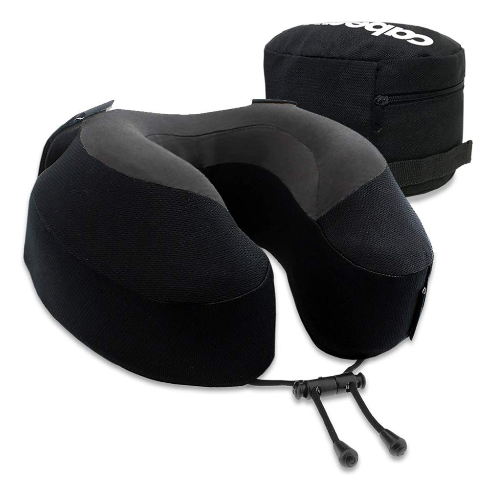 Cabeau Evolution S3 Travel Pillow - Scientifically Best Seated Sleep - Plush Memory Foam Support - Ergonomic Design Prevents Neck Strain by Cabeau