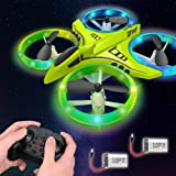 Dwi Dowellin Mini Drone for Kids with LED Lights One Key Take Off Landing Flips RC Remote Control Small Flying Toys Drones fo
