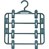 エヌケー 『丈夫な日本製 スカートをまとめて収納できるハンガー』 スカートハンガー 4段 ブルー 317