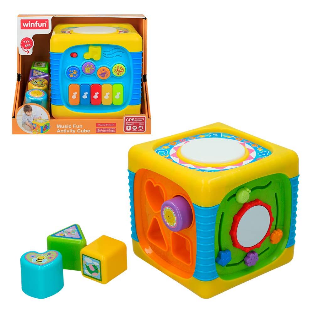 winfun - Cubo de actividades luz y sonido (40940): Amazon.es ...