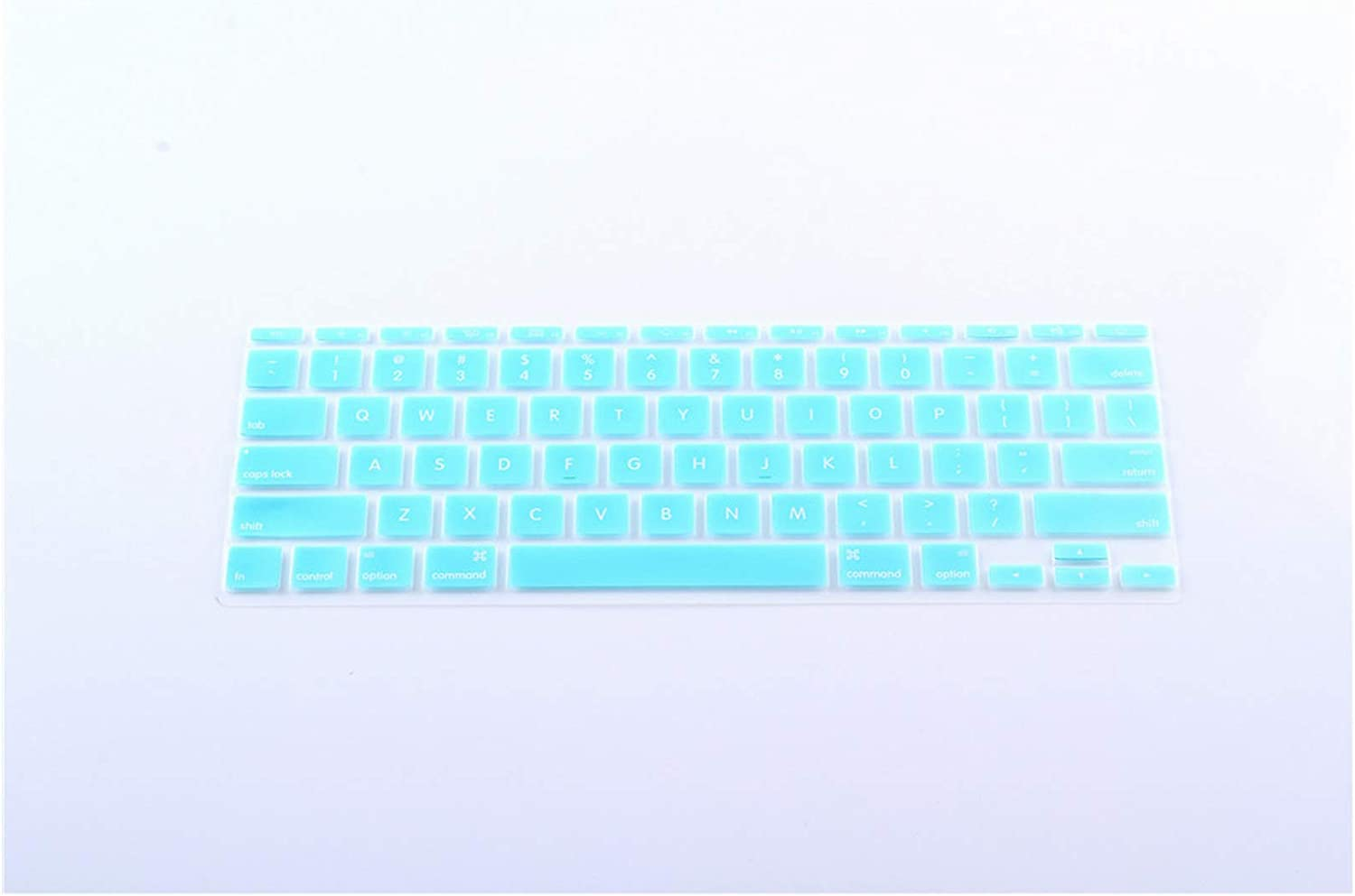Silicone US Version Keyboard Cover Skin for MacBook Air 11 Mac Air 11.6 Inch Keyboard Film Only English,Mint Green