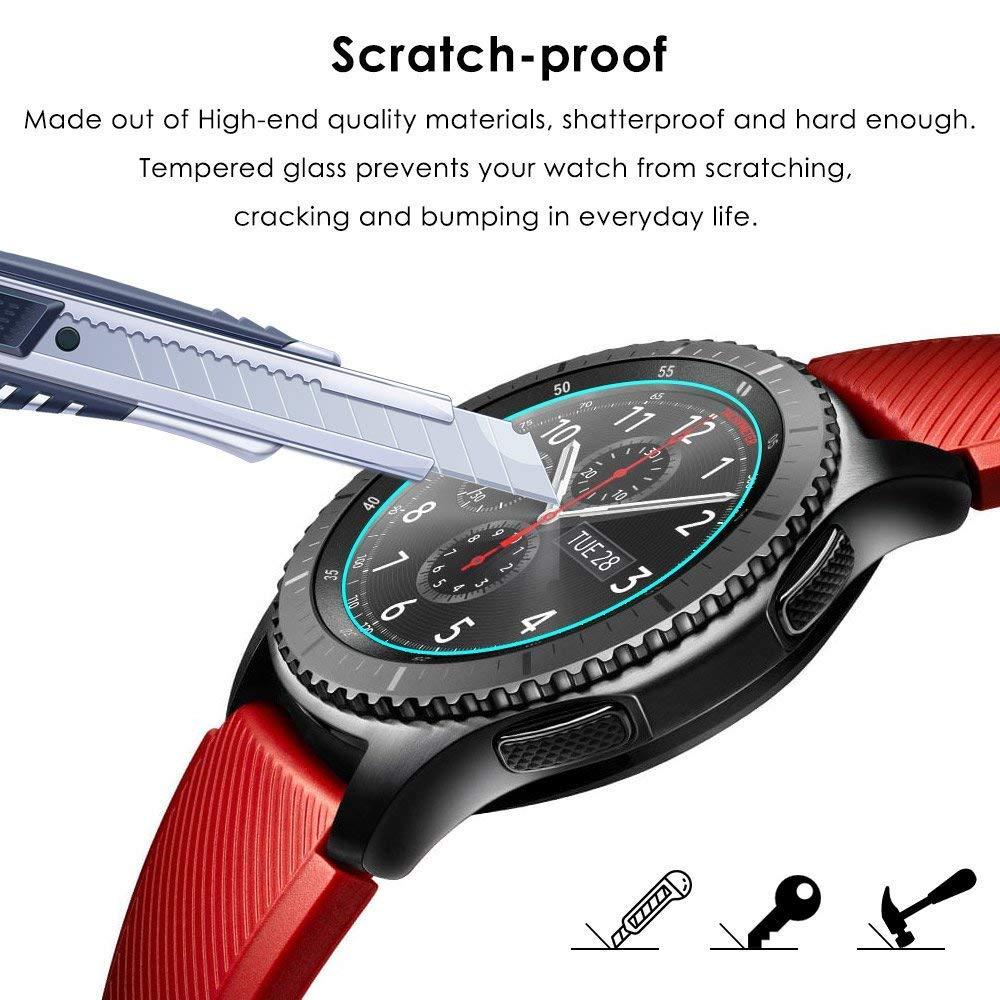 Bamoer - Protector de Pantalla para Samsung Gear S3 (6 Unidades, antiarañazos, sin Burbujas, fácil instalación, Compatible con Smart Watch): Amazon.es: ...