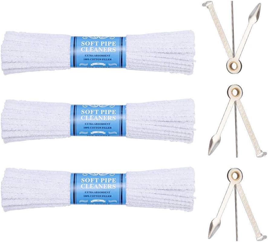 6 Bundles 144 ct Smokin Clean Soft Bristle Absorbent Cotton Pipe Cleaner