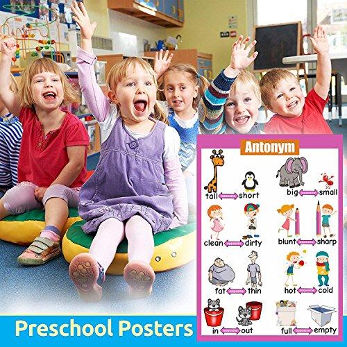 SANTSUN Educational Preschool Posters   Educational Wall Charts   school  decorations classroom organization for Kindergarten-42x60cm(17x24 inch)-