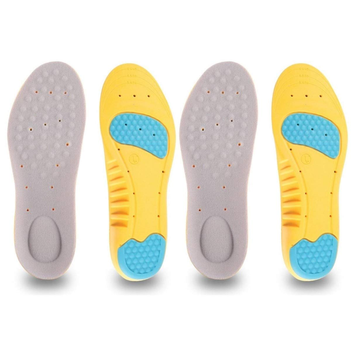 2 Pairs Shoe Insoles, Orthotic Insoles, Memory Foam Insoles Providing Excellent Shock Absorption and Cushioning, Best Insoles for Men and Women for Everyday Use