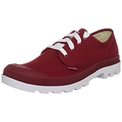 Palladium The Blanc Ox Sneaker in Rio Red & White