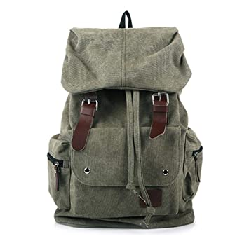a1457ad6be94 Amazon.com | Men And Women Unisex Military Backpack Canvas Bag ...