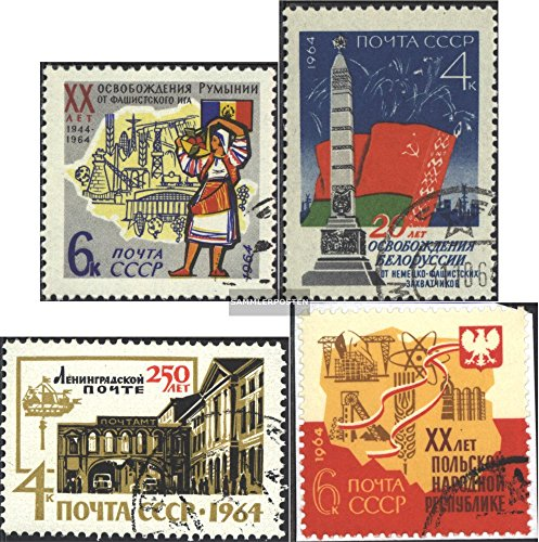 Review Soviet-Union 2921,2929,2930,2931 (complete.issue.) 1964 RomAniA, BelArus u.A. (Stamps for collectors)