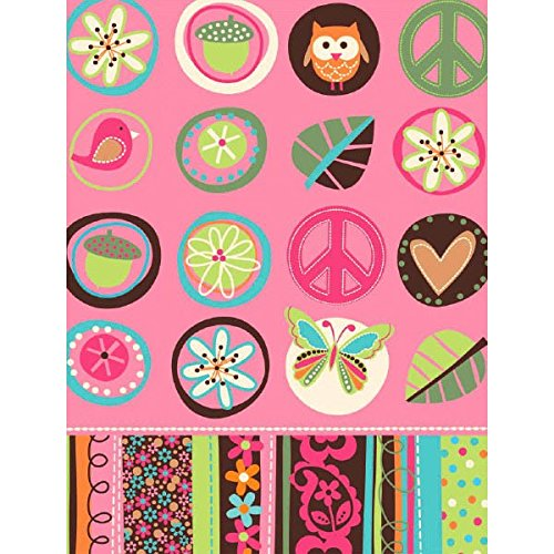 Peace Sign Party Plastic Tablecover (Amscan Hippie Chick Table Cover Birthday Party Tableware Decoration Supply (1 Piece), 54