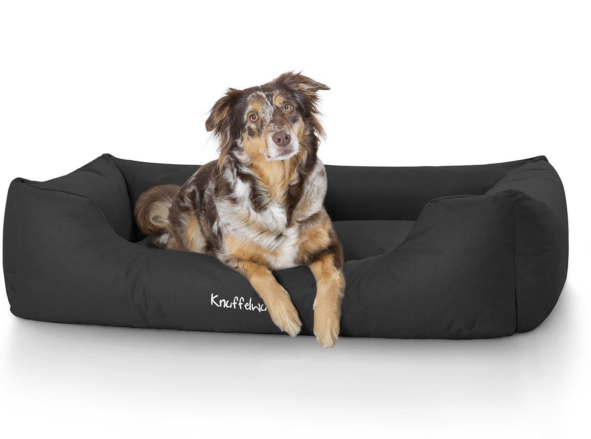 Knuffelwuff panier chien, lit pour chien, coussin, corbeille pour chien Finlay, imperméable, noir XXL 120 x 85cm AMZFINLAY-2