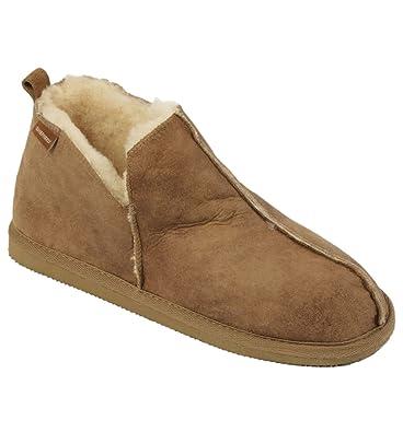finest selection f477a 26ff1 Pantofole da uomo in Lana di Pecora con Finitura di pelle