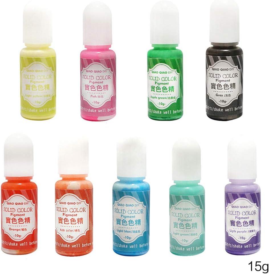 Buwei 9 Unids/Set Color sólido Resina Tinte Epoxi UV ...