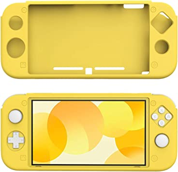 TiMOVO Funda Compatible con Nintendo Switch Lite, Cubierta Protectora Silicona Resistente, Accesorio de Decoración Anti-caída/Rasguños para la Consola Nintendo Switch Lite, Amarillo: Amazon.es: Electrónica