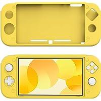 Nintendo Switch Lite Tam Kaplama Sarı Silikon Kılıf