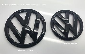 Amazoncom Carbon Genetics Gloss Black VW Scirocco Front And Rear - Acura emblem black