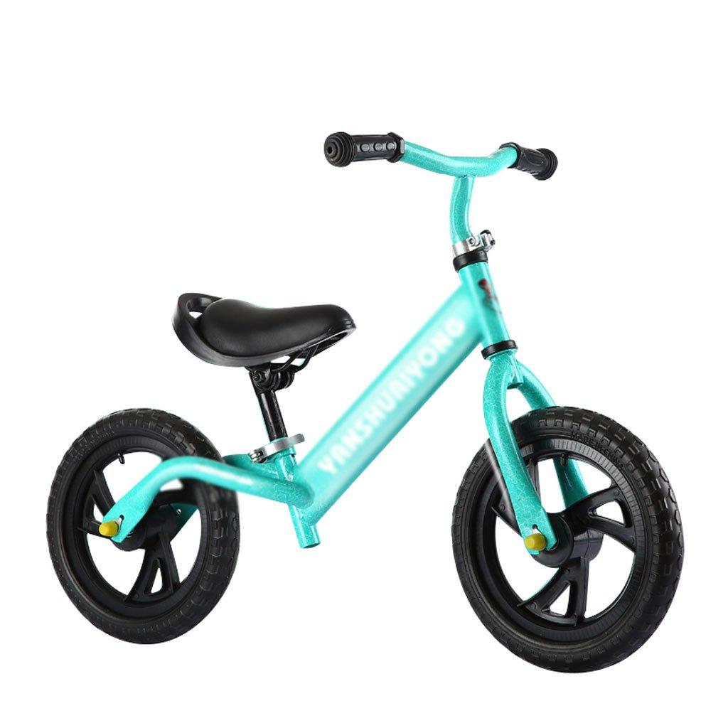 バランスの車は、ペダルなしで子供のスクーターを膨らませる必要はありませんベビースクーターバギー子供の自転車子供のスクーターベビースクーター2ラウンドウォーカー2-6歳 B01M03X4MS Green Green