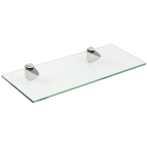 Hartleys 40cm Frosted Glass Floating Bathroom Shelf: Amazon.co.uk ...