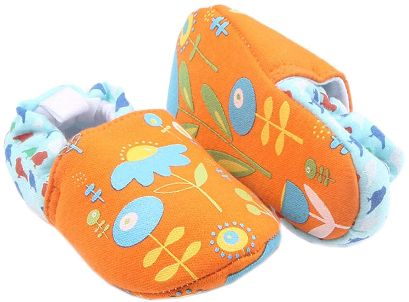 0-1 Year bettyhome Cotton Unisex Baby Newborn Lovely Flower Pattern Soft Sole Infant Toddler Prewalker Sneakers