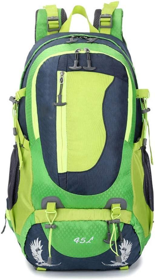 通気性 男性と女性のためのキャンプ屋外登山バックパック/大容量のレクリエーションバックパック (色 : 緑) 緑