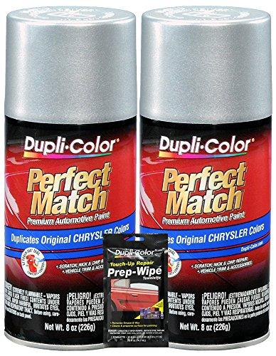 Dupli-Color Bright Silver Metallic Chrysler Perfect Match Automotive Paint - 8 oz, Bundles with Prep Wipe (3 Items) ()