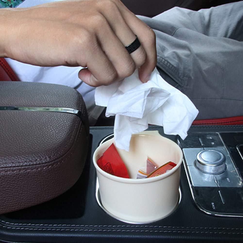 kaakaeu Universal Car Interior Garbage Bin,Air Vent Trash Can with Clips,Multipurpose Mini Storage Organizer Holder Black