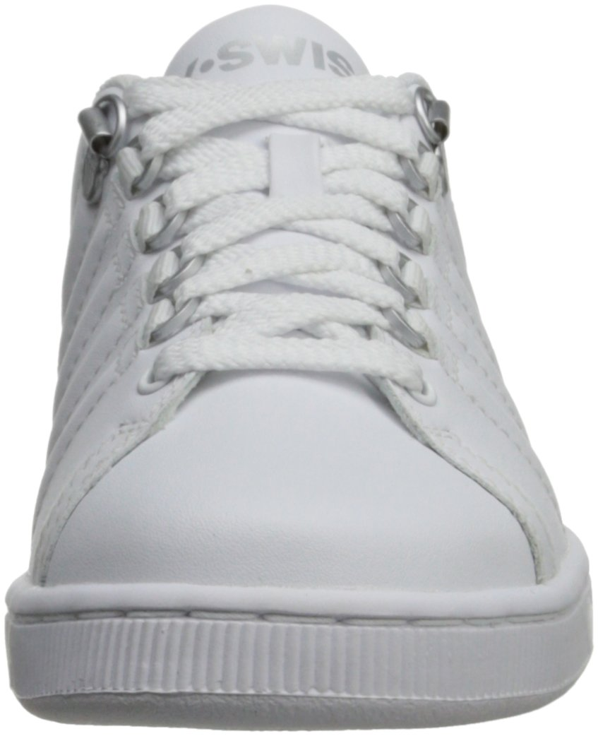 K-Swiss 8110 Lozan Sneaker (Big Kid),White/White/Silver,3.5 M US Big Kid by K-Swiss (Image #4)