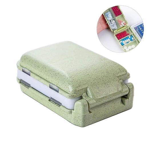 FOONEE Caja de Pastillas de 8 Compartimentos, Mini Tabletas a ...