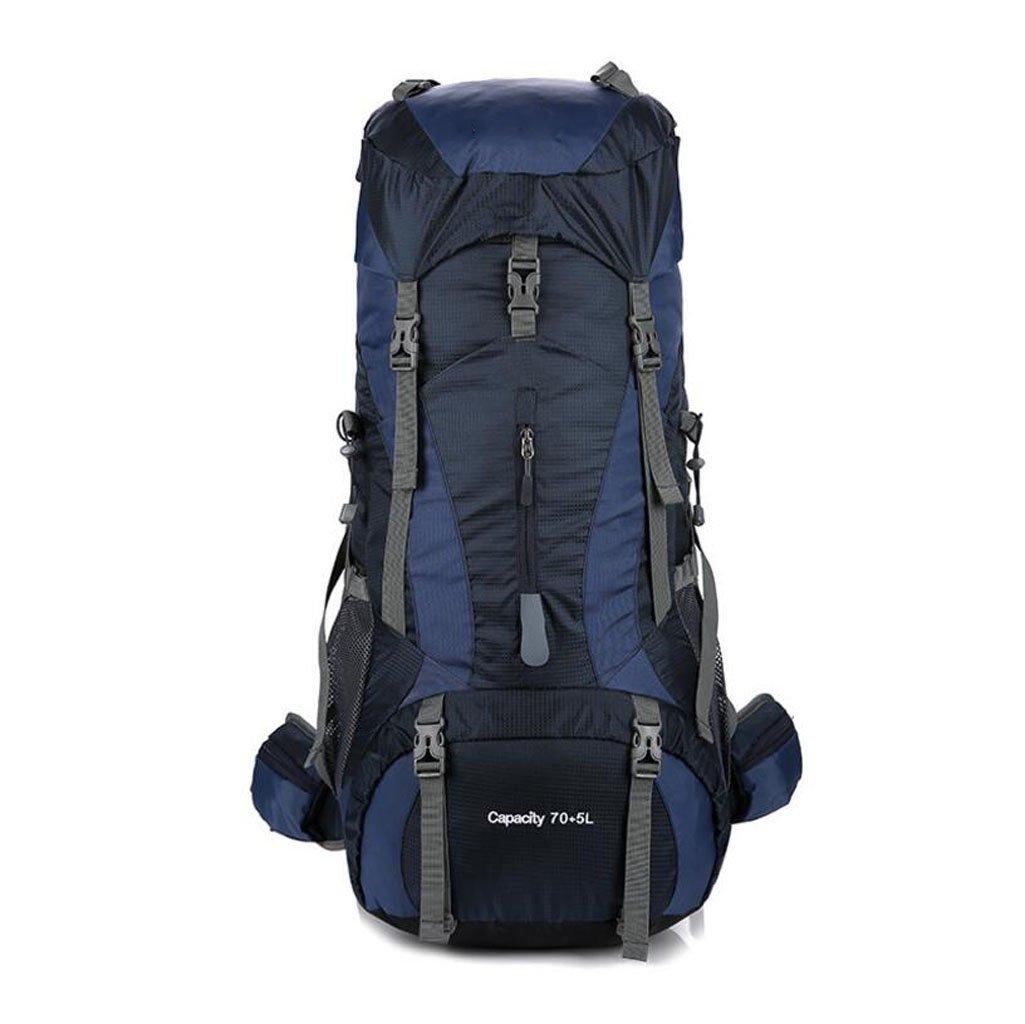 GKKXUE Professionelle Bergsteigenbeutel im Freien kampierende Schulterbeutel Große Kapazität beiläufige Art und Weise Männer und Frauen Schulterbeutel 75L (Farbe : Blau)