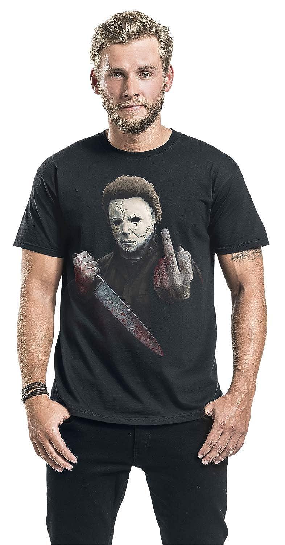 Halloween Michael Myers - Middle Finger Camiseta Negro ...