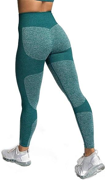 Yaavii Pantalon Yoga Longue Legging de Sport Taille Haute sans Couture pour Femme
