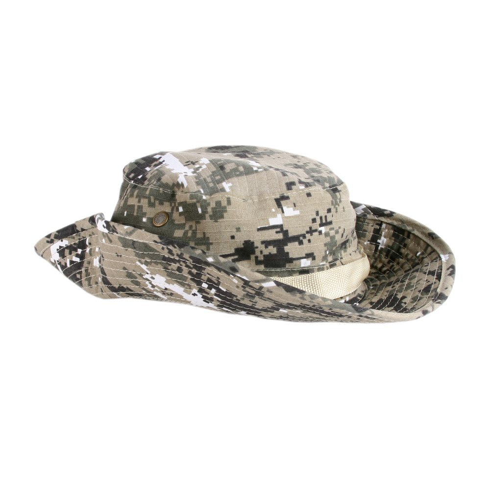 Accessoryo Mens Army Print Style Safari Hat in Camouflage