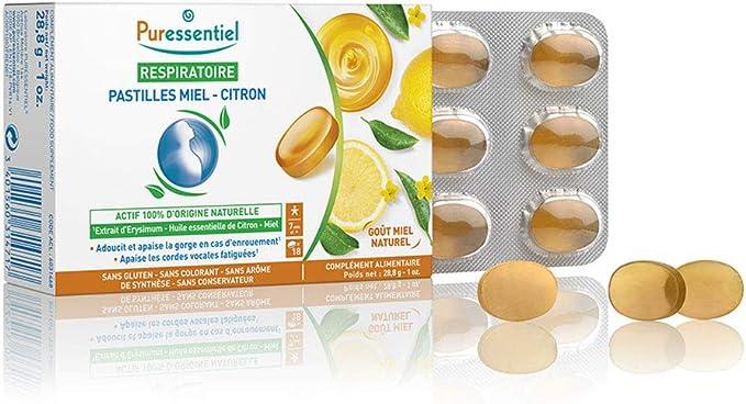 Puressentiel Respiratoire pastilles gorge citron-miel 18 pce