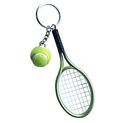 IPOTCH Llavero de Raqueta de Tenis Fabricado de Plástico ...