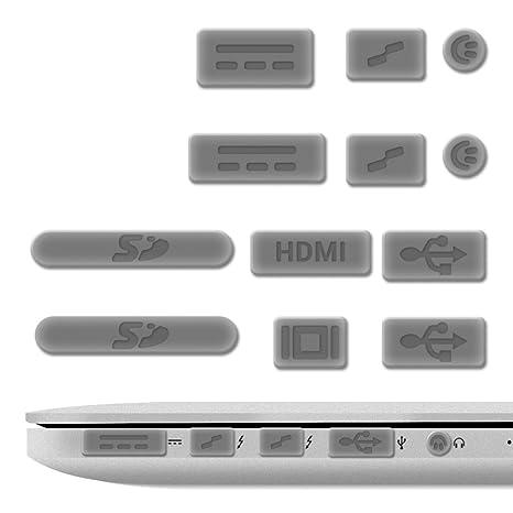 "kwmobile 12x Tapón Anti-Polvo para Apple MacBook Pro 13"" 15"" Retina/"