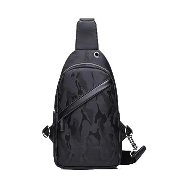 Amazon.com: Chibi-store Moda Chest Bag Hombres Negro Azul ...