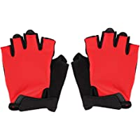 Breathable Bike Bicycle Riding Protective Gloves, Half Finger Outdoor Cycling Shockproof Gloves(M)