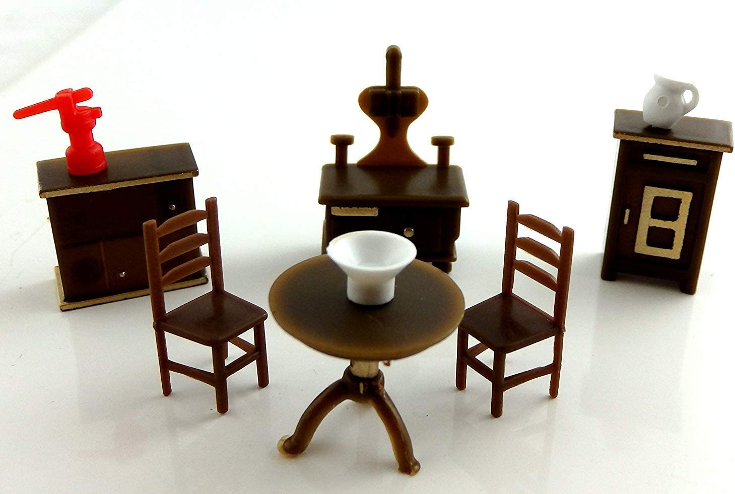 1//48 SCALE MINIATURE FURNITURE HANDCRAFTED WELL MADE BEAUTIFUL KITCHEN SET