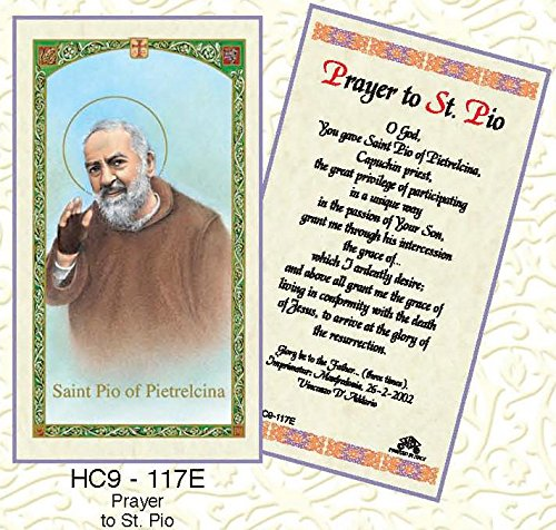 - St. Padre Pio Paper Prayer Cards - Pack of 100 - HC9-117E-L