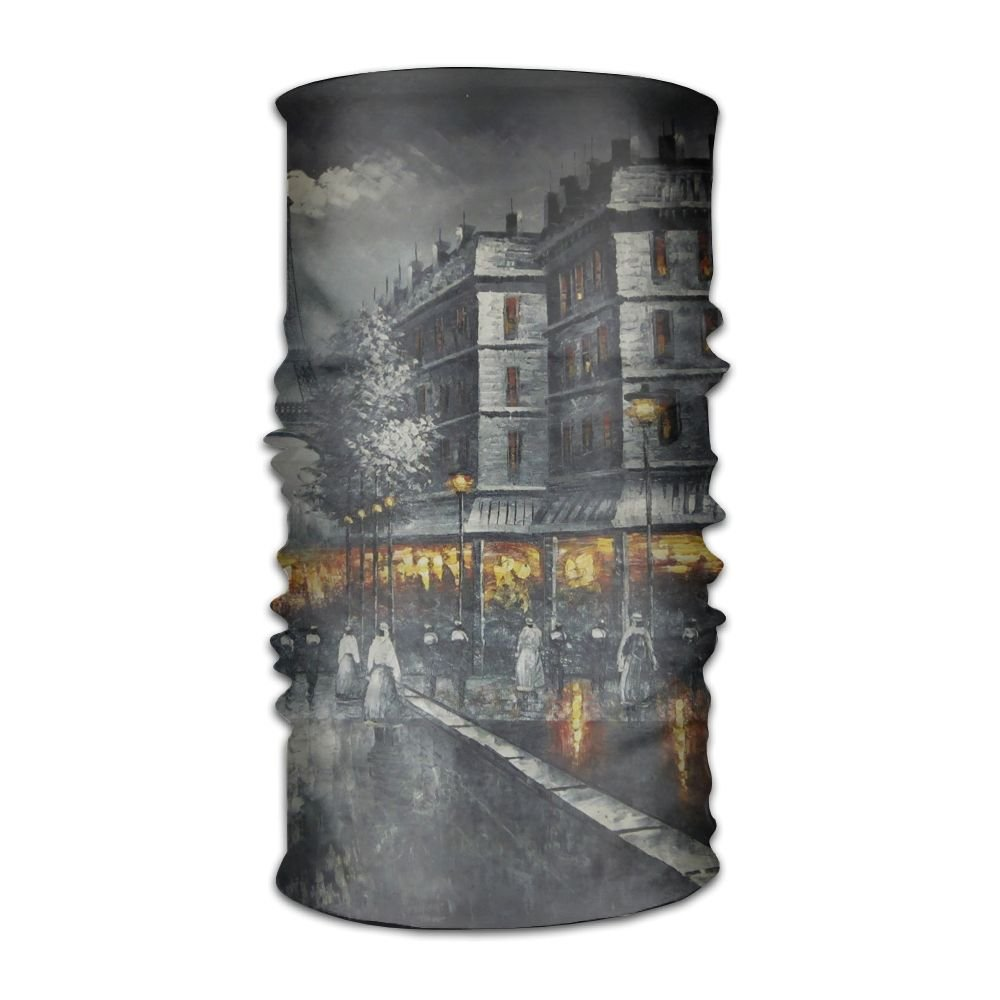 Owen Pullman Multifunctional Headwear Dreamy Paris Tower Head Wrap Elastic Turban Sport Headband Outdoor Sweatband