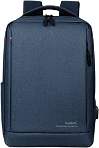 Slim Laptop Backpack Business Travel Durable Laptops Backpack with USB Charging Port College School Computer Bag for Women & Men Fits 15.6 Inch Laptop and Notebook Blue