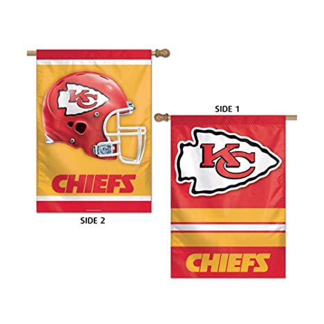 Amazon.com   Kansas City Chiefs Vertical Flag 2 Sided 28