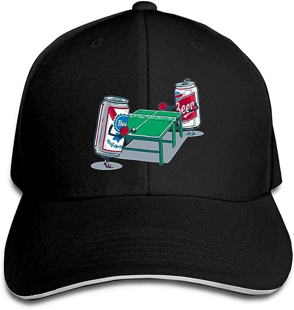 BeiBao-shop Gorra de béisbol Beer Pong Trucker Gorra de sándwich con Pico Ajustable