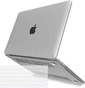 IBENZER MacBook Pro 13 Inch Case 2020 2019 2018 2017 2016 A2251 A2289 A2159 A1989 A1706 A1708, Hard Shell Case with Keyboard Cover for Apple Mac Pro 13 Touch Bar, Frost Clear,T13CL+1A