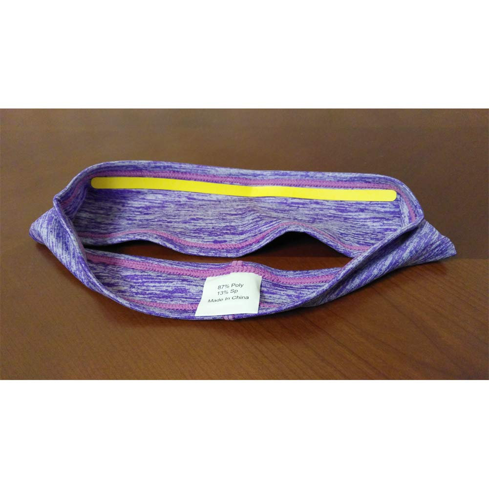 Sweatband with Silicone Sweat Strip Headband Workout Sweatband Headband for Men and Women Unisex 2 Pack