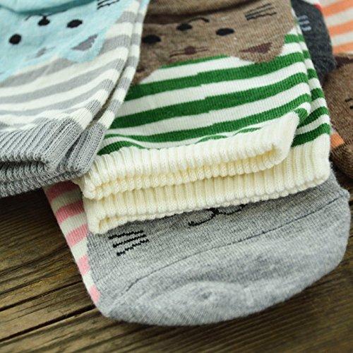 Qiao Nai (TM) Unisexe Chaussettes Soquettes Chat Coton Motif Bas Long  Souple Hiver Chaude Cadeau (Gris)  Amazon.fr  Vêtements et accessoires 390ed724fe1