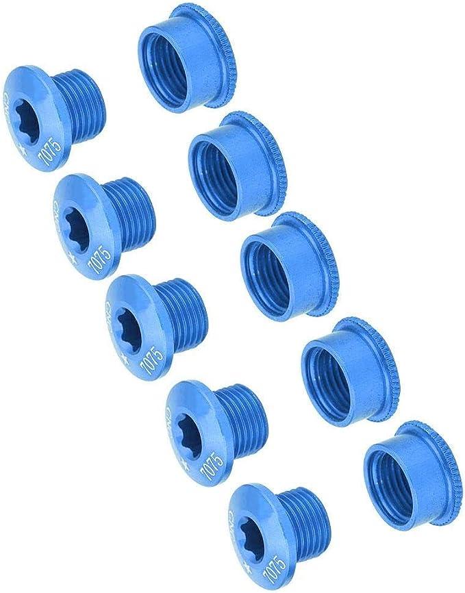 5pcs Boulons de Manivelle de V/élo Vis de Pignon de Bicyclette Vis de Disque de V/élo avec Cl/é Accessoire de V/élo