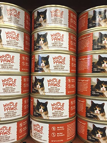 whole-paws-grain-free-shredded-chicken-dinner-in-gravy-can-of-6